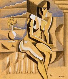 André Lhote, Nu assis, 1917