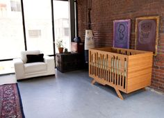 This modern and durable crib captures the spirit of NYC-via houzz