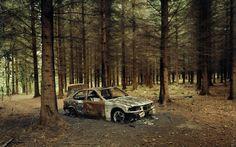 car wallpapers, cars wallpapers, bmw wallpapers, bimmer wallpapers, scenic wallpapers, forest wallpapers, woods wallpapers, fire wallpapers, destroyed wallpapers, luxury wallpapers