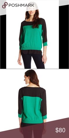 Calvin Klein Sweater Top Calvin Klein Sweater Blouse.  NWT.  Beautiful colors to wear with pants or jeans.  Description Sweater with shirting panel at yoke, sleeve, and hemline Features & details: Body: 60% Cotton, 40% Viscose; Trim: 100% Polyester Hand Wash Calvin Klein Tops Blouses