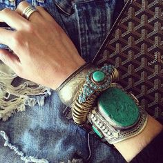 Turquoise Jewelry Outfit Antique Bracelet - These 8 bracelet styles will force you back into the accessory game in the most pocket friendly and chic style. Jewelry Accessories, Fashion Accessories, Fashion Jewelry, Jewelry Design, Ethnic Jewelry, Bohemian Jewelry, Turquoise Jewelry, Turquoise Bracelet, Turquoise Cuff