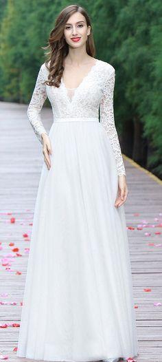 eDressit White Overlace Bridal Gown
