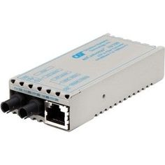 miConverter 10/100 Ethernet Fiber Media Converter RJ45 ST Single-Mode 30km - 1 x 10/100BASE-TX, 1 x 100BASE-LX, US AC Powered, Lifetime Warranty Miconverter Fiber ST SM 1310NM 30KM