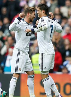 Sergio Ramos, Cristiano Ronaldo - 20130127-La Liga- Real Madrid vs. Getafe