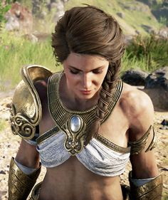 "assassinscreedsource: ""Kassandra in Assassin's Creed Odyssey "" Assassins Creed Game, Assassins Creed Odyssey, Fantasy Characters, Female Characters, Old Hollywood, Assassin's Creed Wallpaper, Fantasy Character Design, Character Art, God Of War"