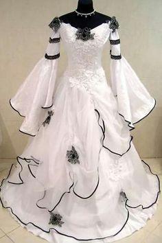 Vestido medieval gótico de novia