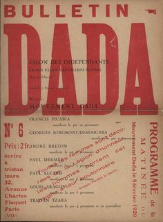 Download 36 Dadaist Magazines from the The Digital Dada Archive (Plus Other Avant-Garde Books, Leaflets & Ephemera) | Open Culture