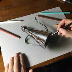 talian illustrator Marcello Barenghi's hyper-realistic drawings of everyday objects, Marcello Barenghi famous art guru Realistic Face Drawing, 3d Art Drawing, 3d Drawings, Pencil Drawings, Painting & Drawing, Charcoal Drawings, Drawing Tips, Drawing Ideas, Still Life Drawing