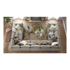 U Shaped Couch Ideas - interior. : The u shaped couch . U Shaped Couch Ideas – interior.tybeeflo… : The u shaped couch is sleek, modern, Home Living Room, Living Room Furniture, Home Furniture, Living Room Decor, U Shaped Couch Living Room, U Shaped Living Room Layout, Sectional Furniture, Furniture Market, Furniture Layout