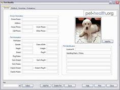 The FREE Pet Health Software tracks your pet's health, so you can keep personal records of of your pet's medical history. If you want to know when your cat or dog had an exam, procedure or shot, you can view that information instantly on your own computer. Pet Health Software is free tool for tracking all of your pet's health information and history. It is very easy to use - just use the tabs at the top of the screen to access and update your pet's general, medical, grooming and emergency…