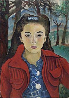 Retrato de Laura Pinheiro de Machado Pinto, 1941 Alberto da Veiga Guignard (Brasil, 1896-1962) óleo sobre madeira, 56 x 39 cm