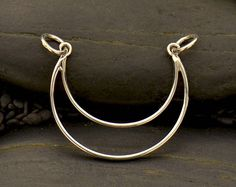 Sterling Silver, Small Crescent, Crescent Moon, Crescent Pendant, Moon Pendant, Crescent Moon Charm, Crescent Jewelry, Moon Jewelry