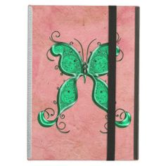Trendy Whimsical Pink and Green Butterfly iPad Cover In our offer link above you will seeHow to          	Trendy Whimsical Pink and Green Butterfly iPad Cover today easy to Shops & Purchase Online - transferred directly secure and trusted checkout...
