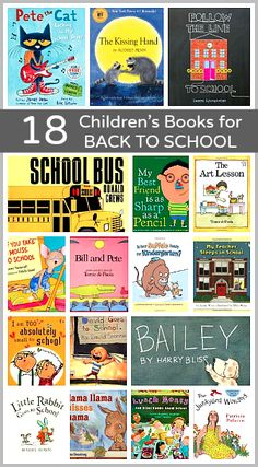 Help prepare your child for the new school year with these books! (18 Children's Books for Back to School)
