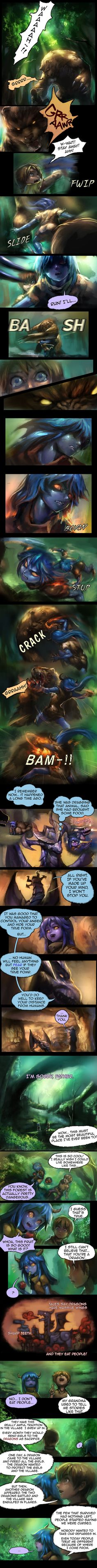 Shyvana~ The Half Dragon Tale. Page 2/6 by ptcrow.deviantart.com on @DeviantArt