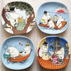 Small collection of Arabia Moomin wall plates Tove Jansson, Moomin Tattoo, Moomin Valley, Cincinnati Zoo, Old Cartoons, Book Characters, A Comics, Plates On Wall, Paper Dolls