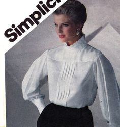 Womens Blouses 1980s Vintage Sewing by allthepreciousthings, $8.00