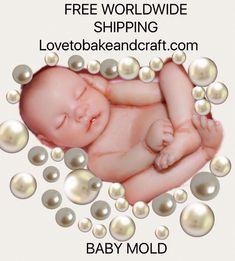 polymerclaybaby claybabymold fimobaby sculpeybaby Baby mold Polymer clay baby mold Polymer clay baby Ooak baby Fimo baby Sculpey baby Premo baby