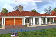 Overall Dimensions- x mBathrooms- 3 Garages- 2 Car Garage Area- Square meters Bedroom House Plans, Dream House Plans, House Floor Plans, My Dream Home, Dream Homes, House Outside Design, Building Costs, House Plans With Photos, Site Plans