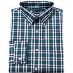42aa0586bb Men's Croft & Barrow® Classic-Fit Striped Easy-Care Button-Down Collar  Dress Shirt, Green
