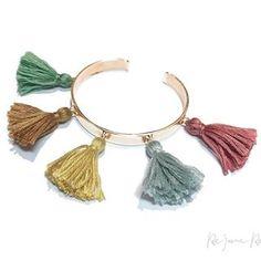 Photo by @rejanerosenbergerdesign | Our spring - summer colors ! #jewellery #jewelry #bracelet #silver #gold #boho #bohochic #pompom #cotton #handmade #❤ #eyecatcher #multicolor #onlineshop #switzerland