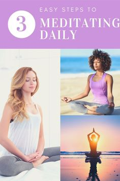 3 easy steps to meditating daily #meditation #yoga morning meditation  routine, morning meditation for beginners tips, how to meditate in the  morning, morning meditation for anxiety, meditation habit, meditation  for beginners stress, how to meditate daily Beginner Meditation, Guided Meditation For Sleep, Meditation For Anxiety, Meditation Retreat, Morning Meditation, Daily Meditation, Mindfulness Meditation, Meditation Scripts, Types Of Meditation