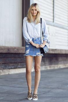 6 Ways To Update Your Denim Mini Skirt