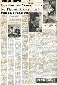 Entrevista a Antonio Estévez. Publicado el 1 de julio de 1968.