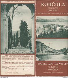 Vintage Travel Tourism Hotel Brochure / KORCULA Hotel DeLa Ville Yugoslavia 1930s / DEPLIANT TOURISTIQUE - Dépliants Turistici
