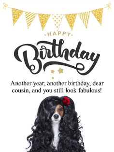 This Fun And Beautiful Happy Birthday Card Will Dazzle Your Cousin Make Them Feel Great On Their Birthd