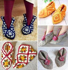 Square room shoes by Keiko Okamoto (岡本啓子)                    Source …             More …        Crochet Square Motifs Patterns …