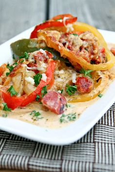 Creamy Chicken Picasso - This creamy chicken and pepper dish is great served over pasta or with some crusty bread.