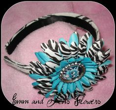 Blue Zebra Daisy Flower Hair ClipMonster High by Emmandjensflowers, $7.00