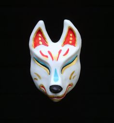 Japanese Fox Kitsune Clip by TheDragonsHorde on Etsy, $10.00