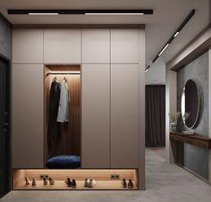 Wardrobe Door Designs, Wardrobe Interior Design, Closet Designs, Home Entrance Decor, House Entrance, Flur Design, Hall Design, Small Apartment Interior, Bathroom Interior