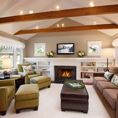 Fireplace Built-in Shelf Design, Pictures, Remodel, Decor and Ideas