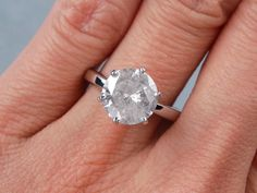 5.40 ct Round Brilliant Cut Diamond. It has a dazzling F/SI1 ...