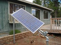 How to make a solar tracker.  Simple design.