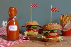 Mini-burgers met suikervrije ketchup / Mini sliders with sugarless ketchup - Een lepeltje lekkers