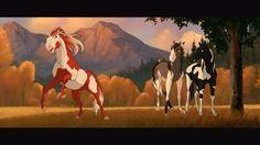Horse Drawings, Cute Animal Drawings, Spirit Drawing, Spirit The Horse, Horse Animation, Sunny D, Horse Cartoon, Horse Story, Indian Horses