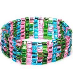 Toho Stretch Cuff Bracelet