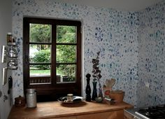 """new wallpaper """"Kandy"""" in our kitchen"""