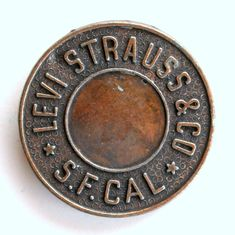 Levi Strauss & Co S F Cal belt buckle. This round buckle is approx 2 inches across an Levis Shirt, Levis Jeans, Jeans Pants, Scarf Belt, Cowgirl Bling, Work Jackets, Scarf Jewelry, Jeans Button, Levi Strauss & Co