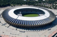 As soccer-loving Brazil preps for hosting FIFA's World Cup in 2014 at least seven of its stadiums are incorporating solar arrays to provide on-site power generation for one of the world's largest sporting events. At least two were recently completed. http://www.solarreviews.com/blog/Brazil-Prepares-2014-World-Cup-7-Solar-Stadiums-5-20-13/ #solarenergy #solar
