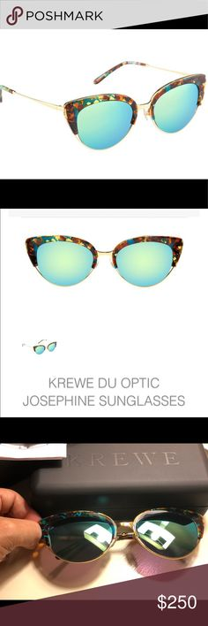Krewe du Optic Josephine Cateye Sunnies Mambo 24k NWT Krewe du Optic cateye sunglasses Discontinued frame, in a premium, state of the art, (no two frames alike) acetate! These were a gift I just never wore because I'm super basic!  $200 through PP. Krewe du Optic Accessories Sunglasses