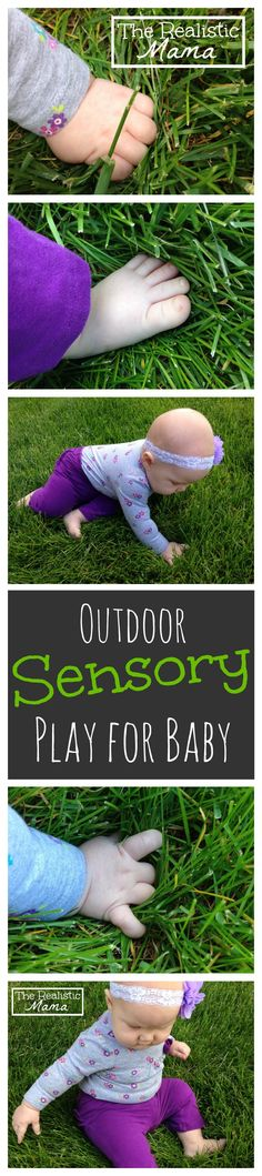 Easy Outdoor Sensory Play for Baby - tons of great ideas in this post!