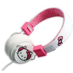 Hello Kitty Headphones: White Pink KT