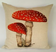 Toadstool Cushion Panel per panel Cushion Fabric, Cushion Pads, Country Cushions, Buy Fabric Online, Nature Collection, Cushion Inserts, Decorative Cushions, Panel, Fauna