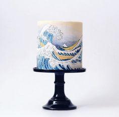 Un wedding cake inspiré de La Grande Vague de Kanagawa http://www.vogue.fr/mariage/inspirations/diaporama/gateaux-de-mariage-wedding-cake-pieces-montees/33339#un-wedding-cake-inspire-de-la-grande-vague-de-kanagawa