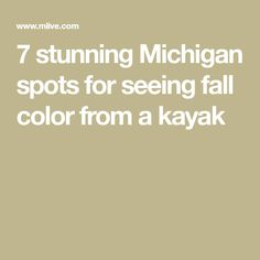 7 stunning Michigan spots for seeing fall color from a kayak Manistee National Forest, Manistee River, Kayak Rentals, Crystal River, Whitewater Rafting, Canoe And Kayak, Traverse City, Northern Michigan, Autumn